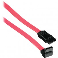 Pearstone 18 7-pin Internal Straight to 90-Degree Serial ATA Cable (Red)