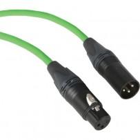 Kopul Premium Performance 3000 Series XLR M to XLR F Microphone Cable - 3' (0.91 m), Green
