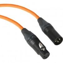 Kopul Premium Performance 3000 Series XLR M to XLR F Microphone Cable - 10' (3.0 m), Orange