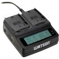 Watson Duo LCD Charger with 2 DMW-BLF19 Battery Plates