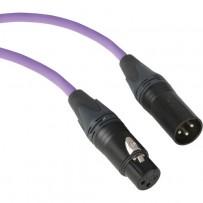 Kopul Premium Performance 3000 Series XLR M to XLR F Microphone Cable - 3' (0.91 m), Violet