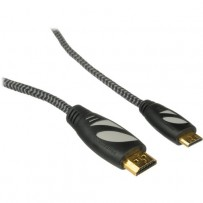 Pearstone Active Braided High Speed Mini HDMI to HDMI Cable with Ethernet - 1.5' (0.5 m)