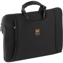 Ruggard 14 Ultra Thin Laptop Sleeve with Handles (Black/Orange)