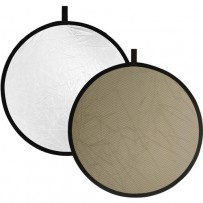 Impact Collapsible Circular Reflector Disc - Soft Gold/White - 12