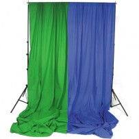 Impact Background System Kit with 10x24' Chroma Green and Blue Muslins
