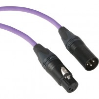 Kopul Premium Performance 3000 Series XLR M to XLR F Microphone Cable - 15' (4.6 m), Violet