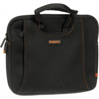 Ruggard 10 Ultra Thin Netbook Sleeve With Handles (Black/Orange)