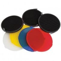 Impact Strobros Diffusion/Grid Set for On-Camera Flash Beauty Dish