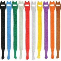 Pearstone 0.5 x 12 Touch Fastener Straps (Multi-Colored, 10-Pack)