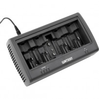 Watson Universal 8-Bay Charger for AA, AAA, C, D and 9V NiMH and NiCd Batteries