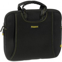 Ruggard 10 Ultra Thin Netbook Sleeve With Handles (Black/Yellow)