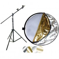Impact 42 5-in-1 Reflector with Lightstand and Holder Kit