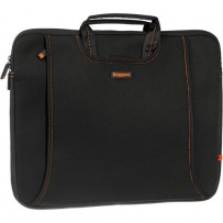 Ruggard 15 Ultra Thin Laptop Sleeve with Handles (Black/Orange)