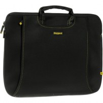 Ruggard 15 Ultra Thin Laptop Sleeve with Handles (Black/Yellow)