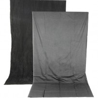 Impact Reversible Crushed Muslin Background (10 x 12', Charcoal/Smoke Gray)