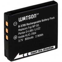 Watson D-Li68 / NP-50 / KLIC-7004 Lithium-Ion Battery Pack (3.7V, 800mAh)