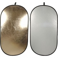 Impact Collapsible Oval Reflector Disc - Soft Gold/White - 41x74