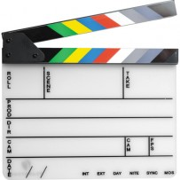 "Pearstone Acrylic Dry Erase Clapboard with Color Sticks (9.25x11"")"