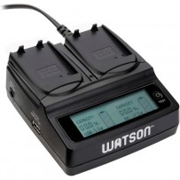 Watson Duo LCD Charger with 2 EN-EL14 Battery Plates