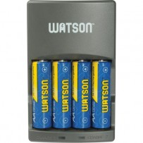 Watson 4-Hour Rapid Charger with 4 AA NiMH Rechargeable Batteries (2300mAh)