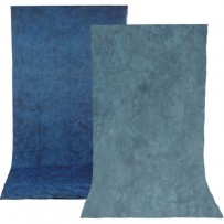 Impact Reversible Muslin Background (10 x 24', Stone Blue/Nickel)