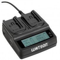 Watson Duo LCD Charger for BP-700 Series Batteries