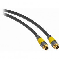 Pearstone Gold Series Premium S-Video Male to S-Video Male Video Cable - 1.5' (.5 m)