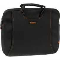 Ruggard 13 Ultra Thin Laptop Sleeve with Handles (Black/Orange)