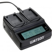 Watson Duo LCD Charger with 2 NB-10L Battery Plates