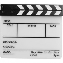 Pearstone Acrylic Dry Erase Clapboard with B/W Sticks (9.75x11)