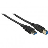 Pearstone USB 3.0 Type A Male to Type B Male Cable - 3'