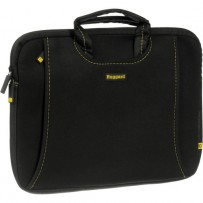 Ruggard 13 Ultra Thin Laptop Sleeve with Handles (Black/Yellow)