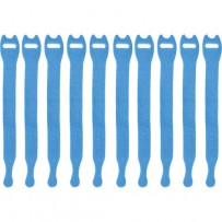 Pearstone 0.5 x 8 Touch Fastener Straps (Blue, 10-Pack)