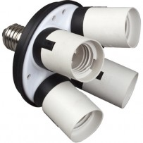 Impact 4 Socket Fluorescent Adapter
