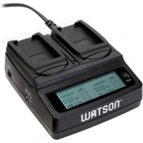 Watson Duo LCD Charger with 2 LP-E12 Battery Plates