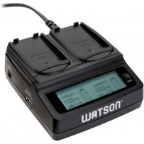 Watson Duo LCD Charger with 2 EN-EL9 / EN-EL9a Battery Plates