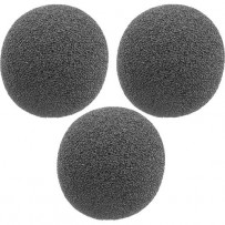 Auray WLF-038-3R Foam Windscreens for 3/8 Diameter Microphones (Round Shape, 3 Pack)