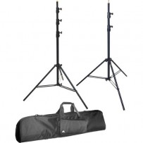 Impact Air Cushioned Two Light Stand Kit with Case
