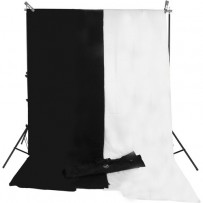 Impact Background System Kit with 10 x 24' Black, White Muslins