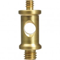 Impact Short Double-Male Round Spigot with 1/4-20 and 3/8 Threads