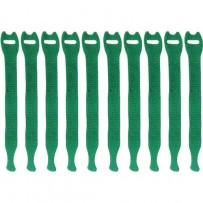 Pearstone 0.5 x 8 Touch Fastener Straps (Green, 10-Pack)