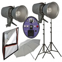 Impact Two Monolight Umbrella Softbox Kit (120VAC)