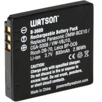 Watson DMW-BCE10 or VW-VBJ10 Lithium-Ion Battery Pack (3.7V, 800mAh)
