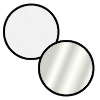 Impact Collapsible Circular Reflector Disc - Silver/White - 42